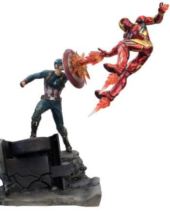 Statuette Captain America VS Iron Man